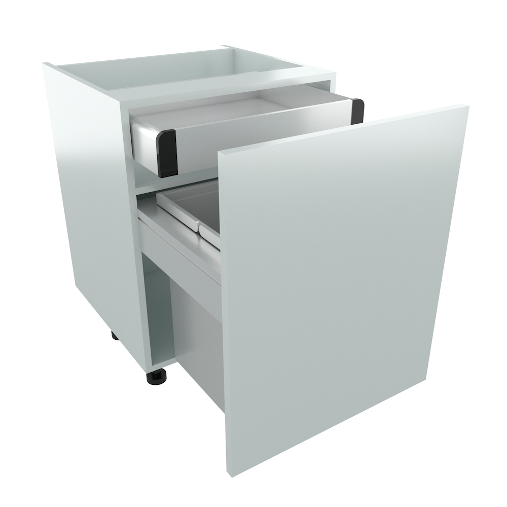 600mm BIN STORE Base Unit - Highline with Internal Drawer (2 x 28L)