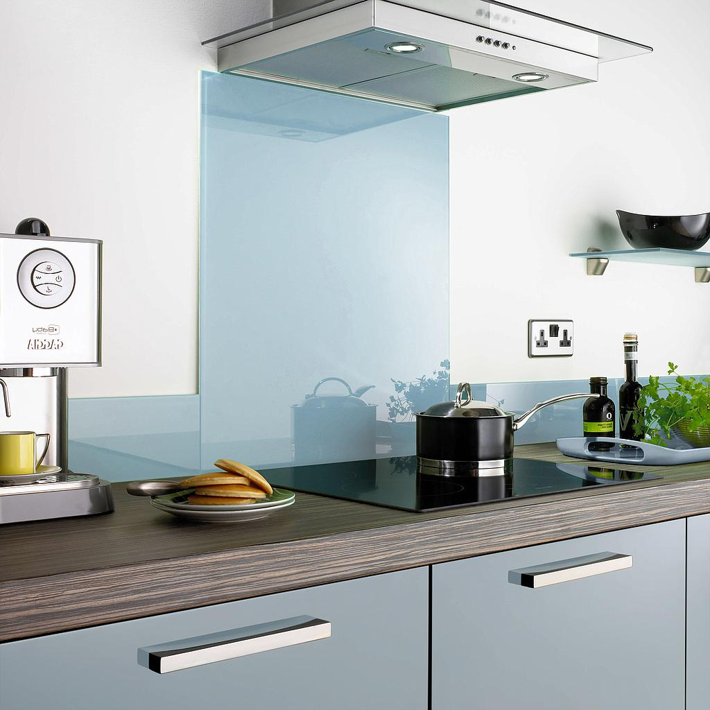 Aurora Glass Splashbacks - Pantry Blue