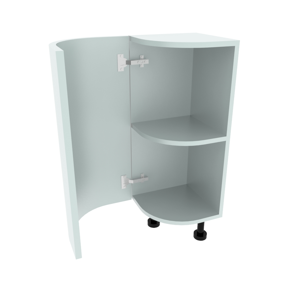 Curved Base Unit - 300 x 300mm - (R=186mm) (Left End)
