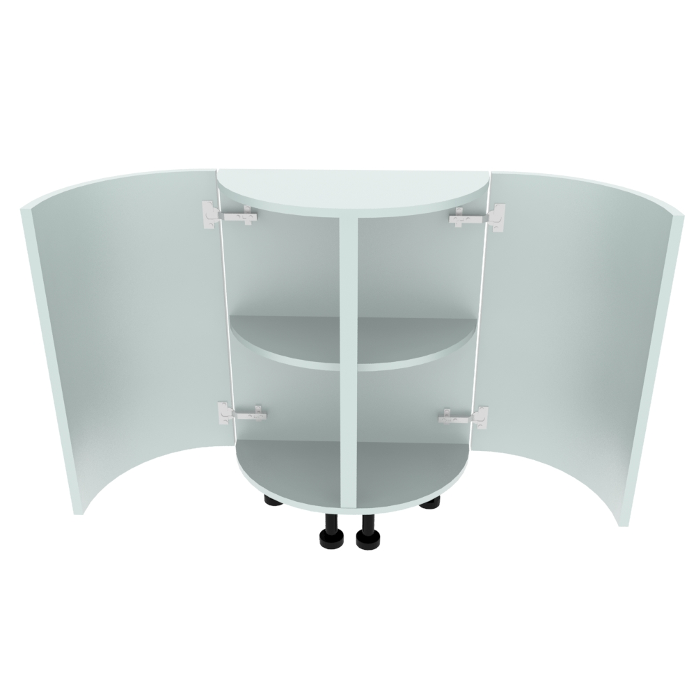 Double Curved Base Peninsular End Unit - 300 x 600mm - (R=288mm)