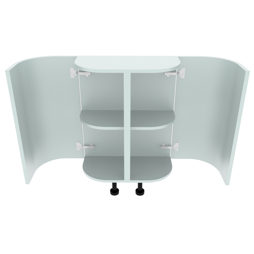 Double Curved Base Peninsular End Unit - 300 x 600mm - (R=175mm)
